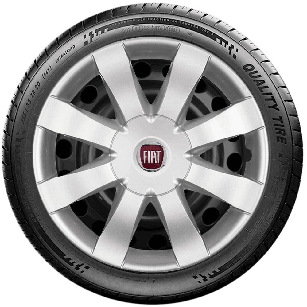 Calota Jogo 4Pçs Fiat Novo Palio Argo Cronos Grand Siena Aro 15 G875J