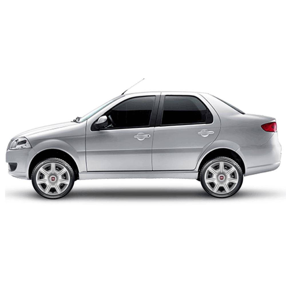 Calota Jogo 4Pçs Fiat Novo Palio Argo Cronos Grand Siena Aro 15 G876J