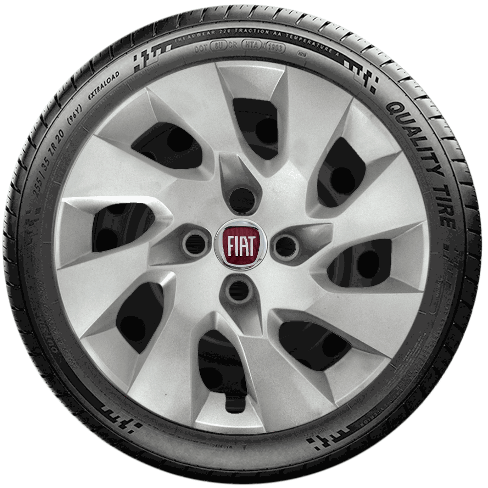 Calota Jogo 4Pçs Fiat Palio Elx Fire Siena Uno Way Idea Aro 14 G133J