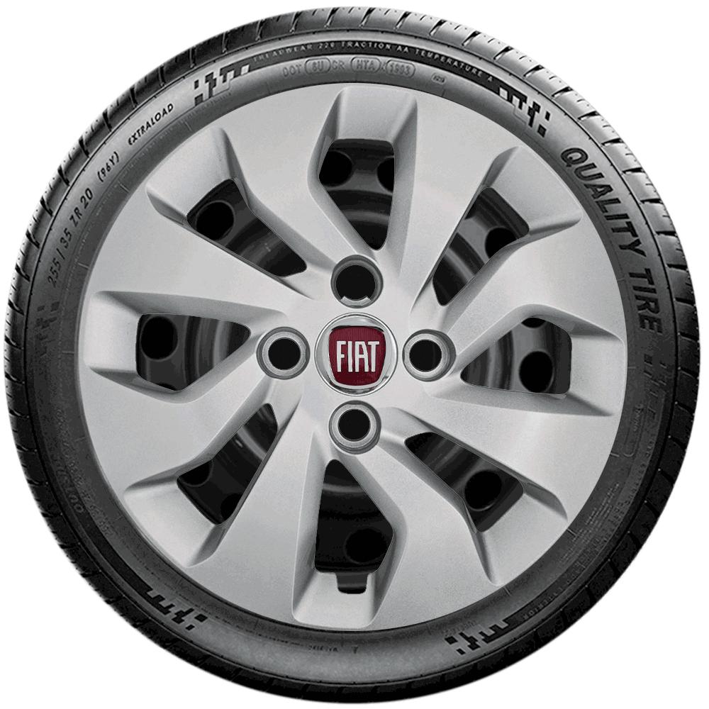 Calota Jogo 4Pçs Fiat Palio Elx Fire Siena Uno Way Idea Aro 14 G373J