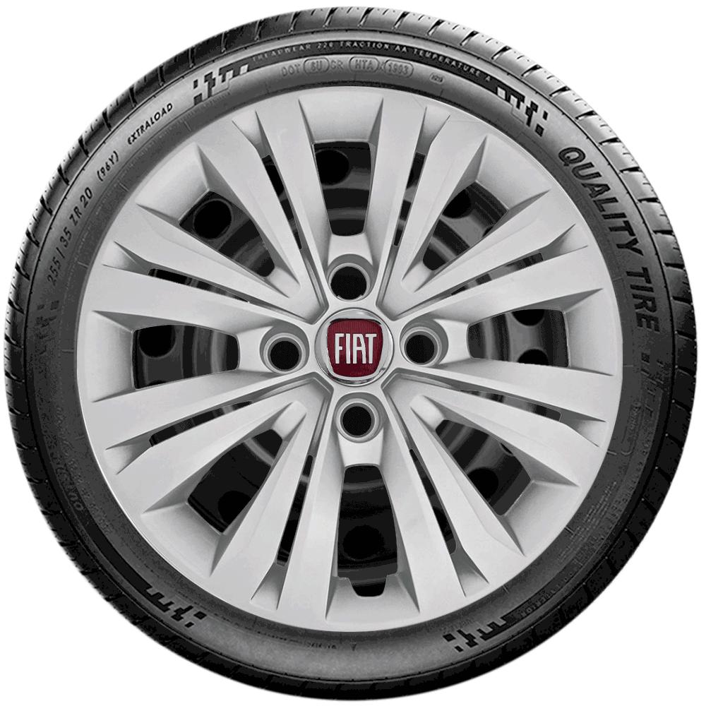 Calota Jogo 4Pçs Fiat Palio Siena Argo Uno Aro 14 G245J
