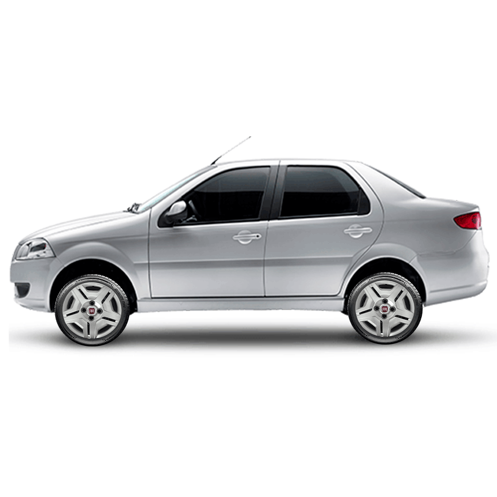 Calota Jogo 4Pçs Fiat Palio Siena Uno Fire 2000 A 2015 Aro 13 G132J