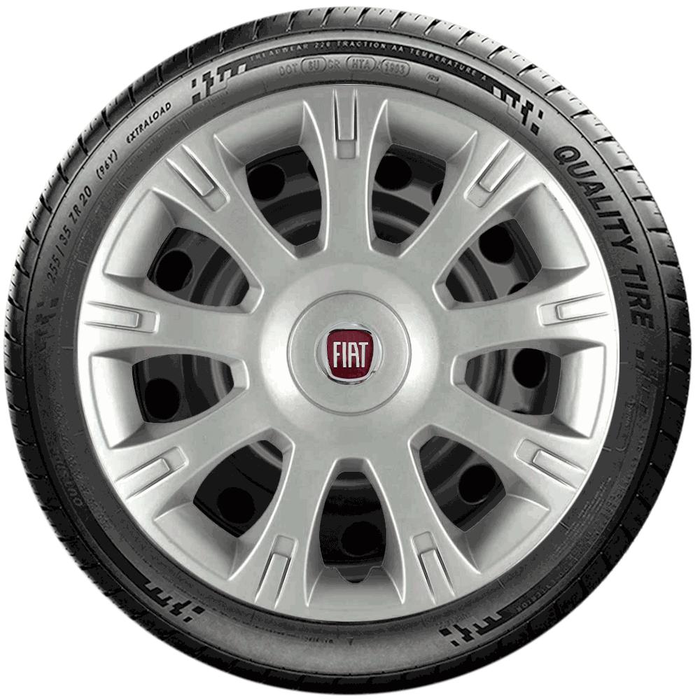 Calota Jogo 4Pçs Fiat Palio Siena Uno Fire Aro 14 G086J