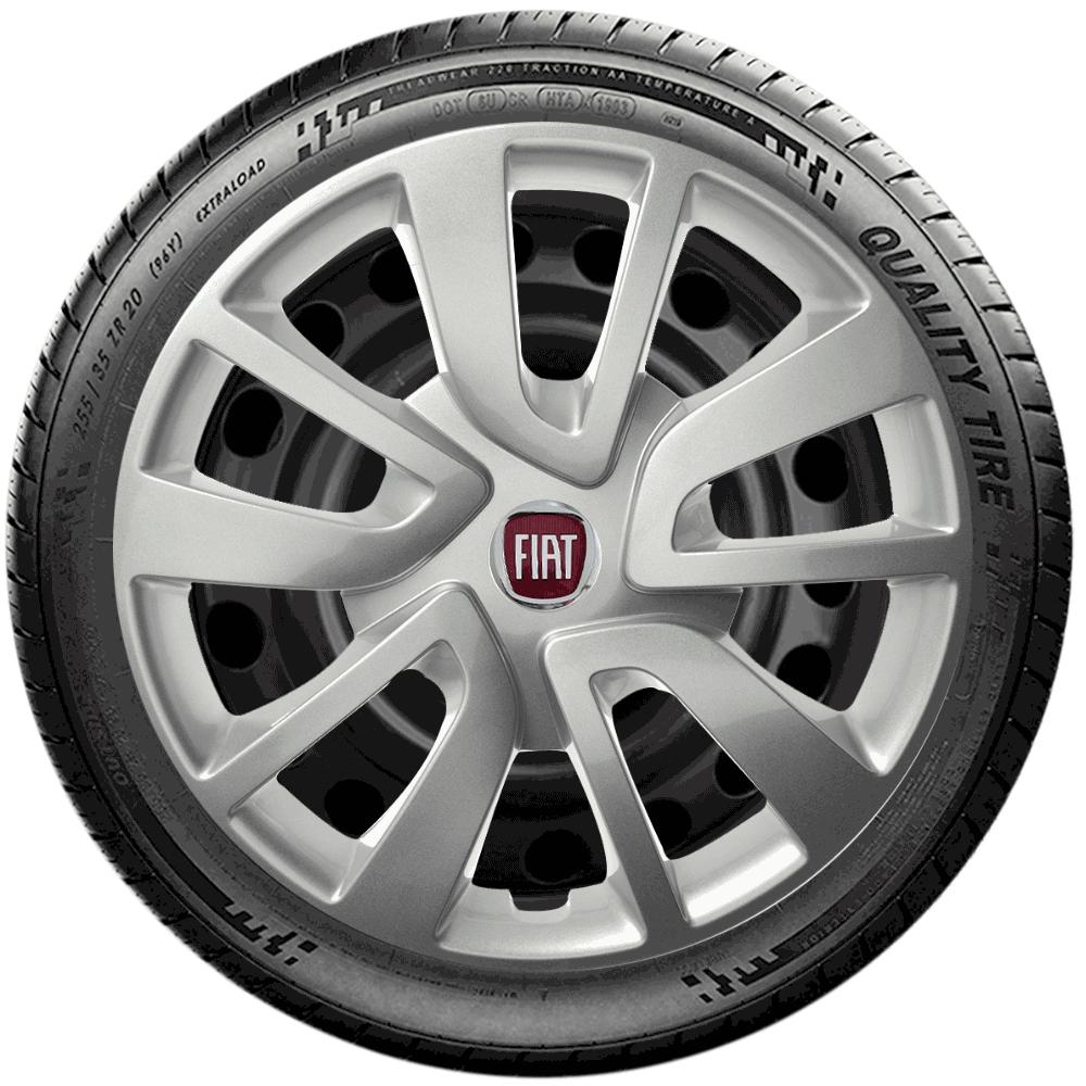 Calota Jogo 4Pçs Fiat Palio Siena Uno Fire Aro 14 G870J