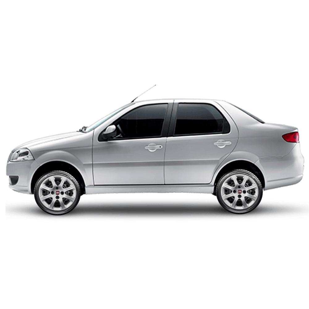 Calota Jogo 4Pçs Fiat Palio Wekend Uno Idea Punto Fire Aro 14 G290J