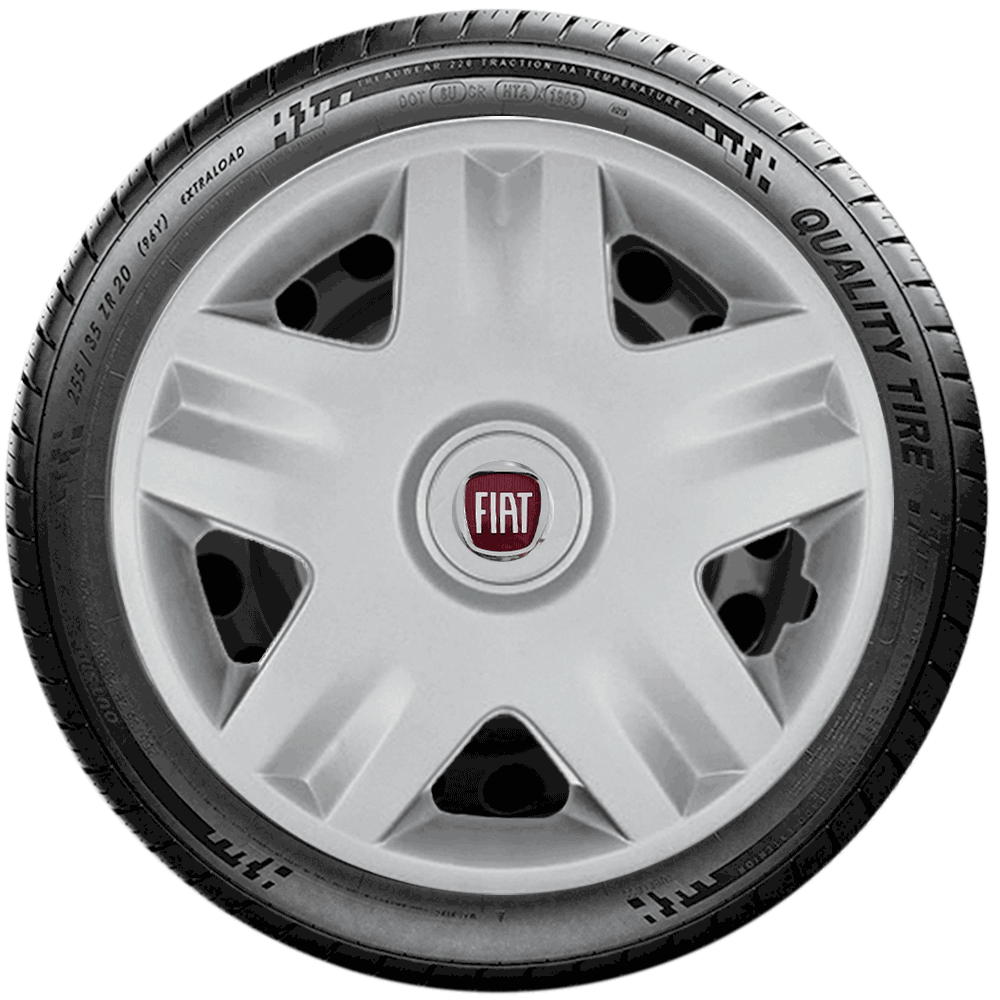 Calota Jogo 4Pçs Fiat Punto Palio Siena Uno Fire Aro 14 G871J
