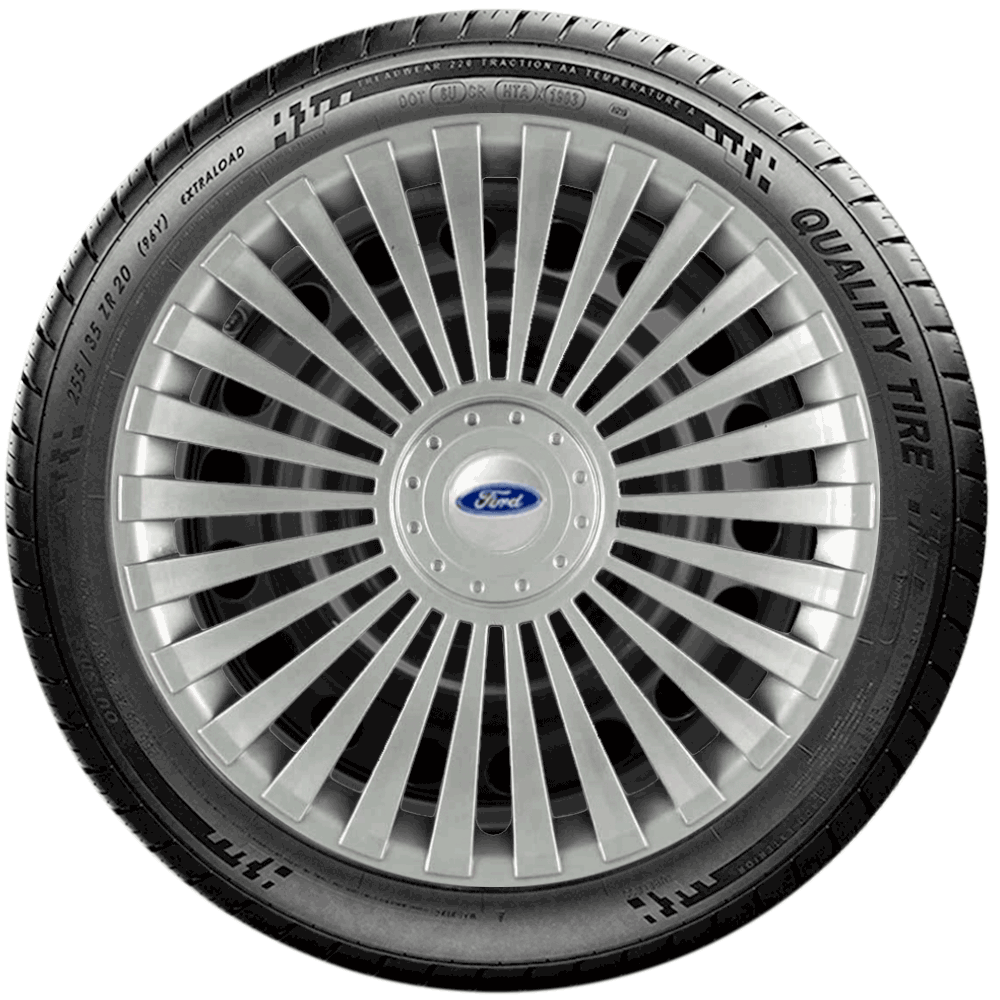 Calota Jogo 4Pçs Ford Fiesta Focus Ka Aro 14 G068J