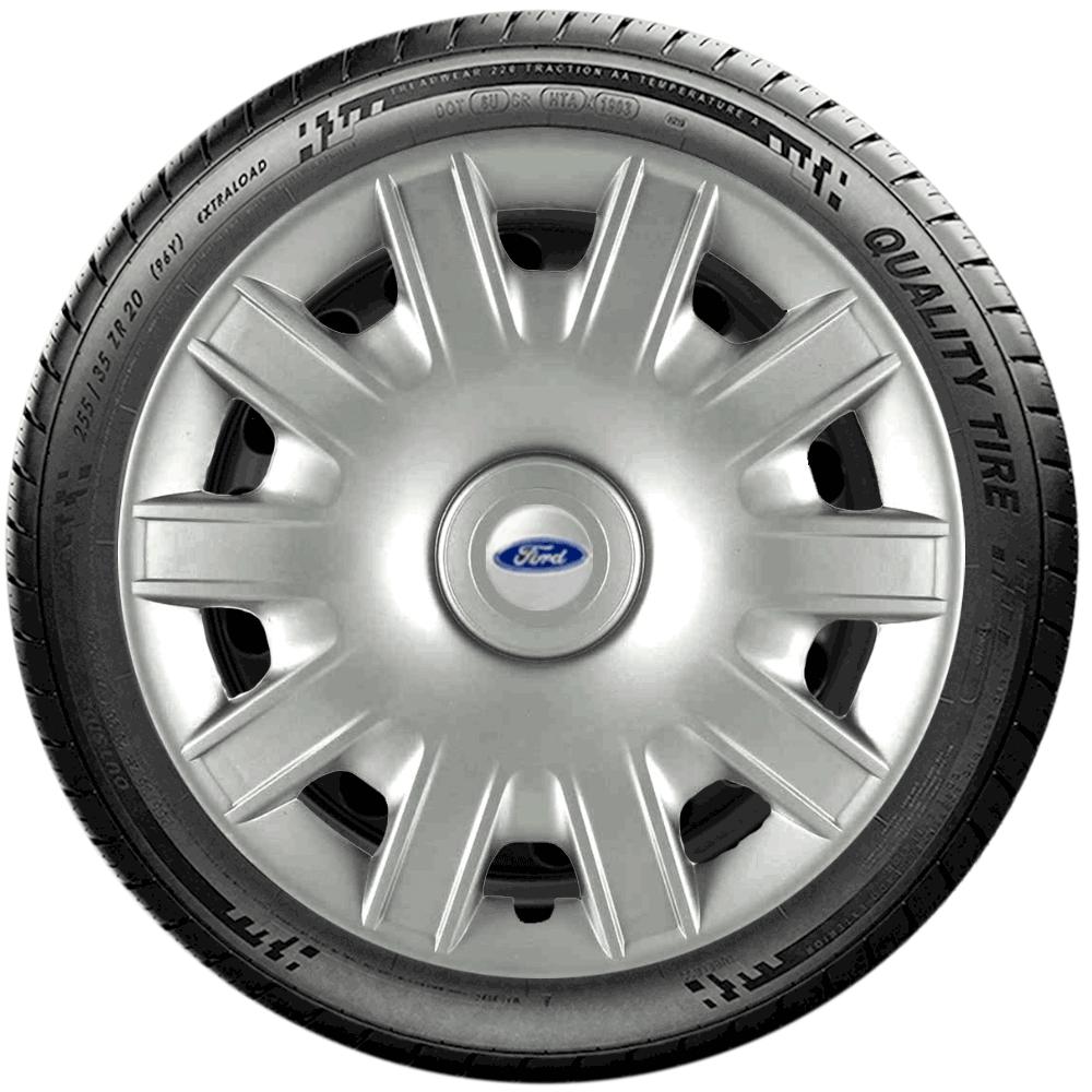 Calota Jogo 4Pçs Ford Fiesta Focus Ka Aro 15 G063J