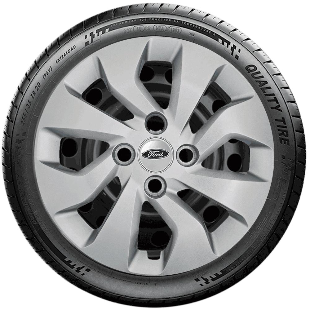 Calota Jogo 4Pçs Ford Fiesta Focus Ka Fiestinha Novo Ka Aro 14 G373J