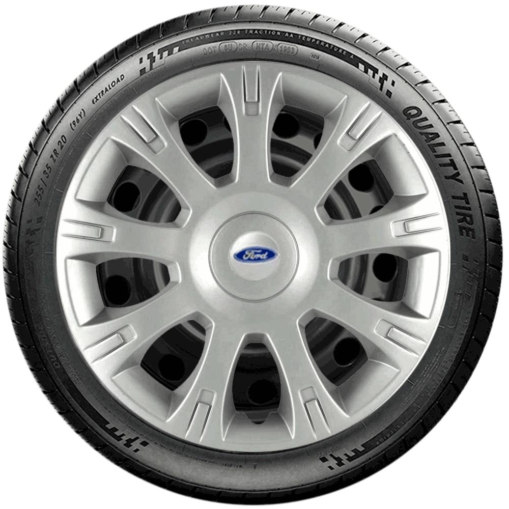 Calota Jogo 4Pçs Ford Fiesta Focus Novo Ka Aro 14 G086J