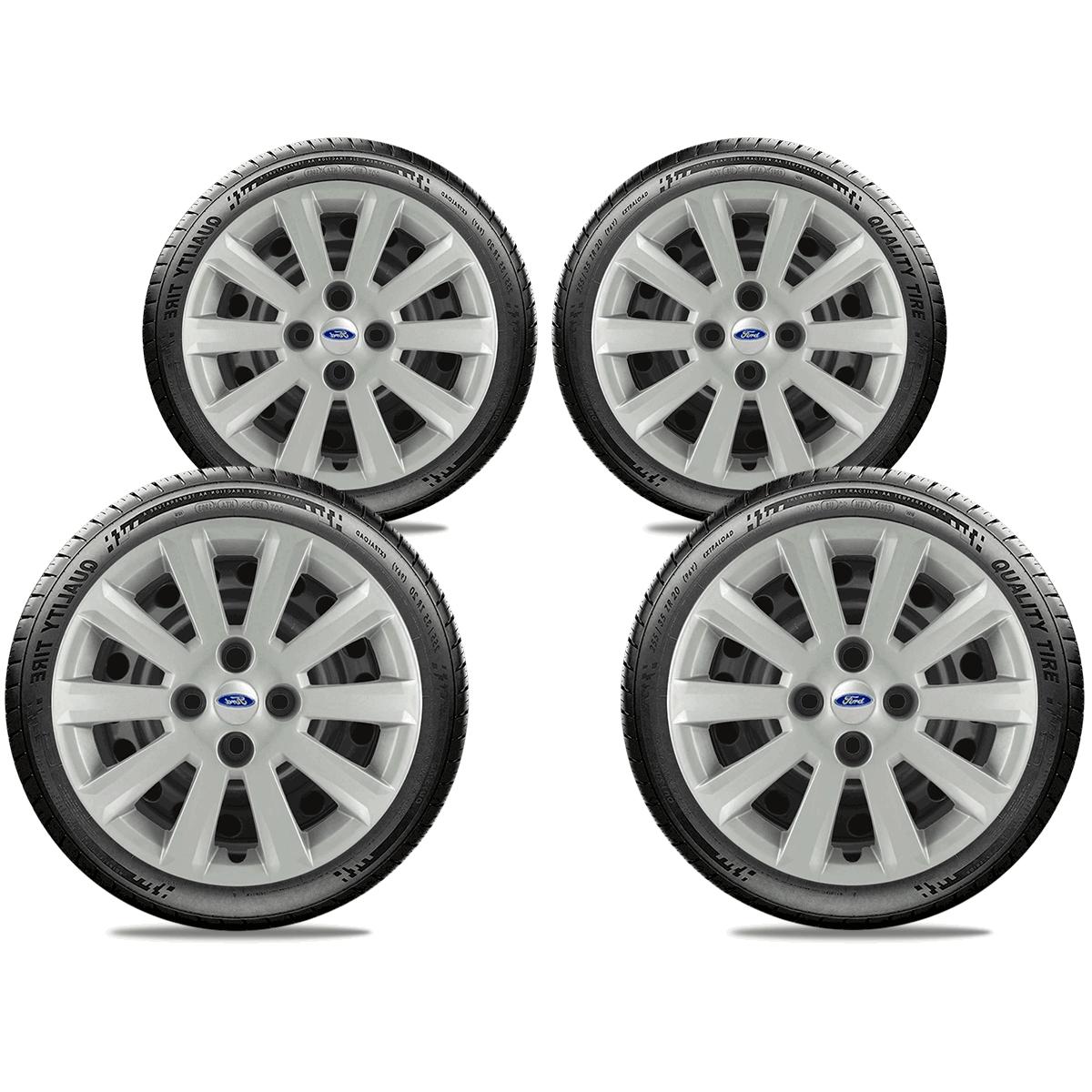 Calota Jogo 4Pçs Ford Fiesta Focus Novo Ka Aro 15 G018J