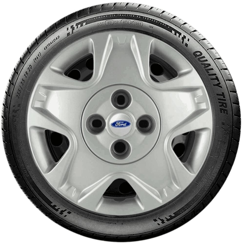 Calota Jogo 4Pçs Ford Fiesta Rocam Focus Novo Ka Aro 14 G025J