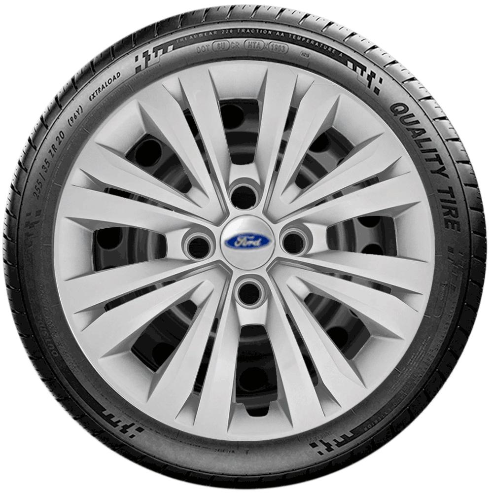 Calota Jogo 4Pçs Ford Ká 2019 2020 Fiesta Focus Aro 15 G246J