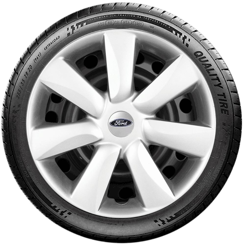Calota Jogo 4Pçs Ford Novo Ka Fiesta Focus Aro 14 G450J