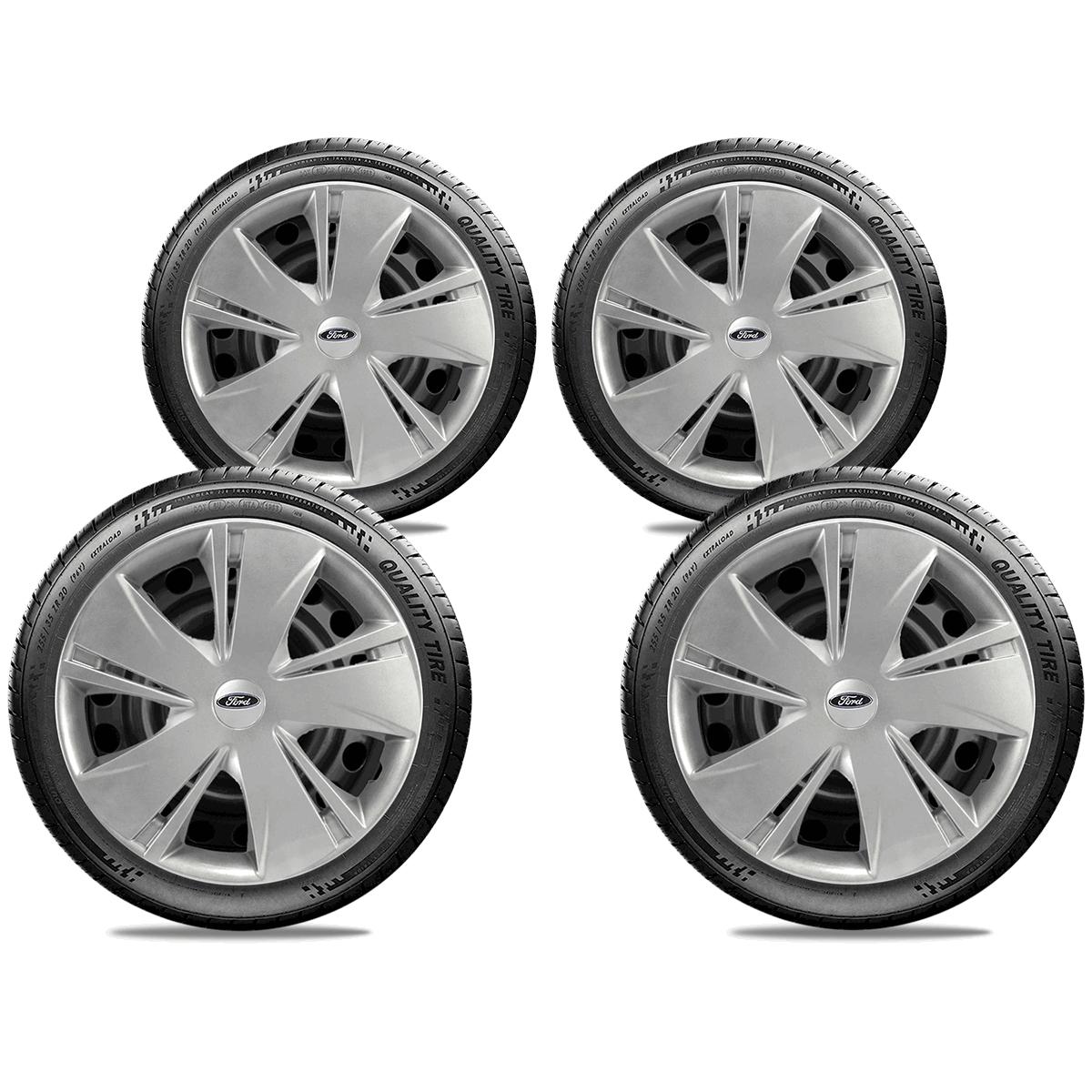 Calota Jogo 4Pçs Ford Novo Ka Fiesta Focus Aro 14 G451J