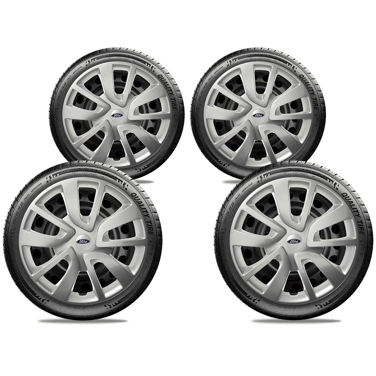 Calota Jogo 4Pçs Ford Novo Ka Fiesta Focus Aro 14 G870J