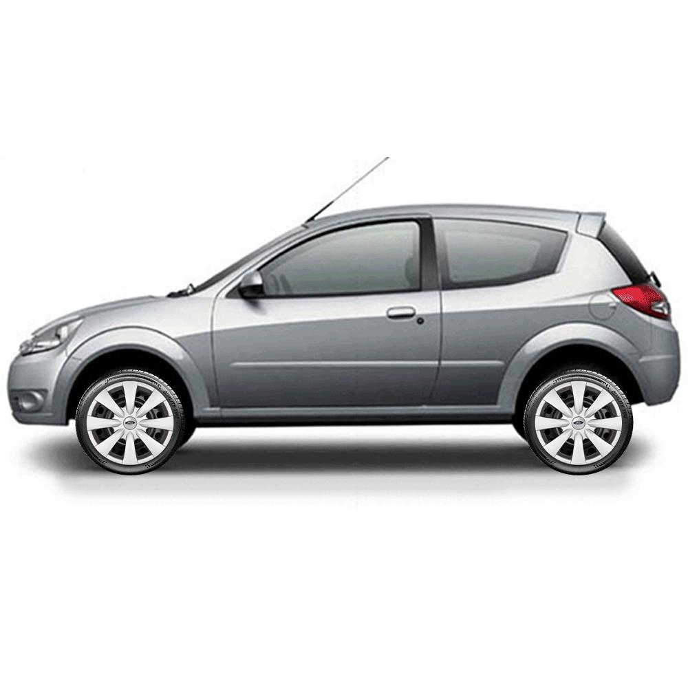 Calota Jogo 4Pçs Ford Novo Ká Fiesta Focus Aro 15 G460J
