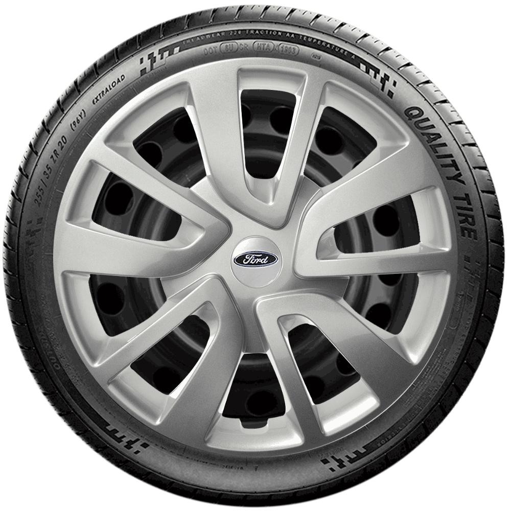 Calota Jogo 4Pçs Ford Novo Ká Fiesta Focus Aro 15 G869J