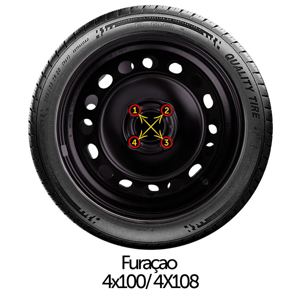 Calota Jogo 4Pçs Volkswagen Gol Saveiro G2 G3 G4 Aro 14 G117J