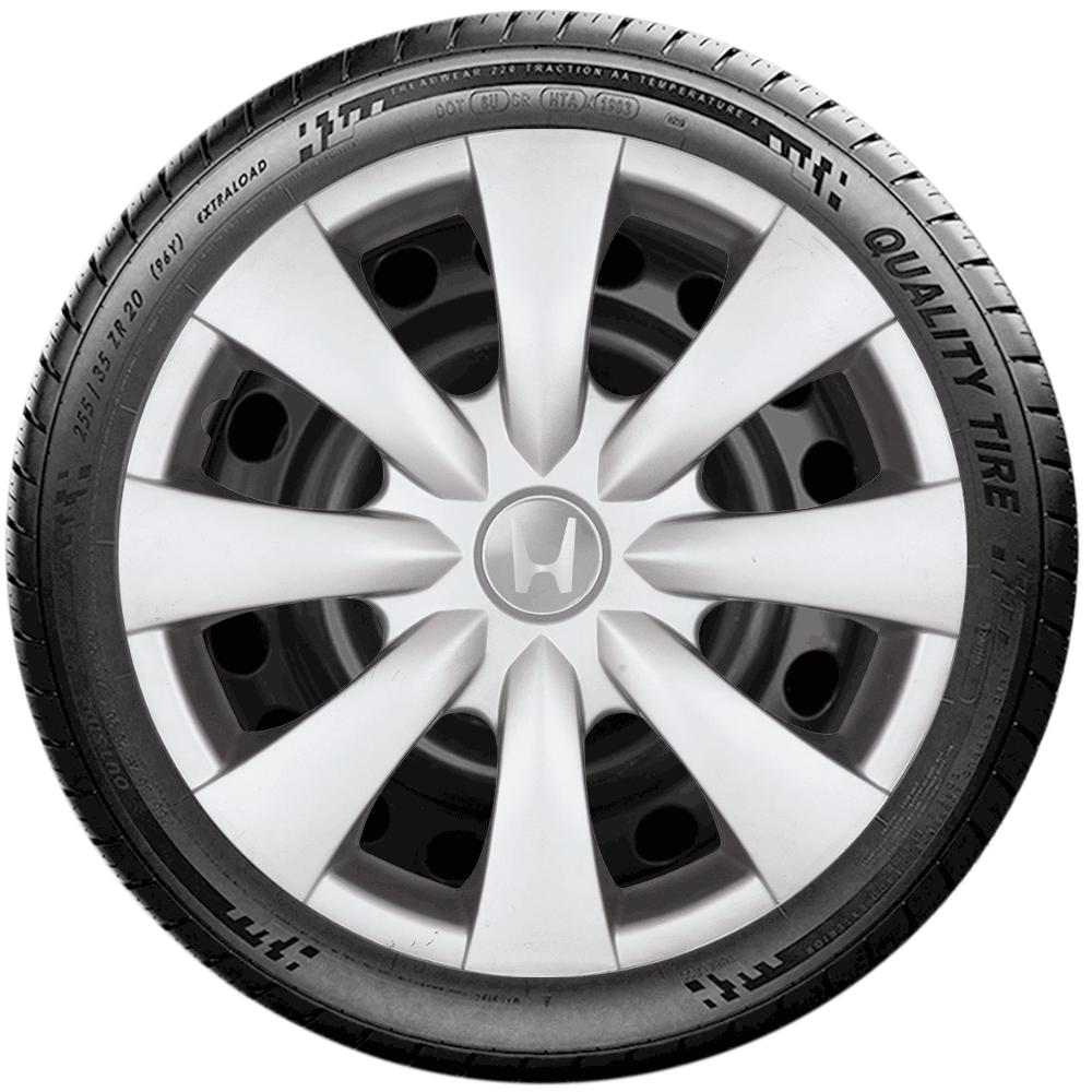 Calota Jogo 4Pçs Honda New Civic New Fit City Aro 15 G460J