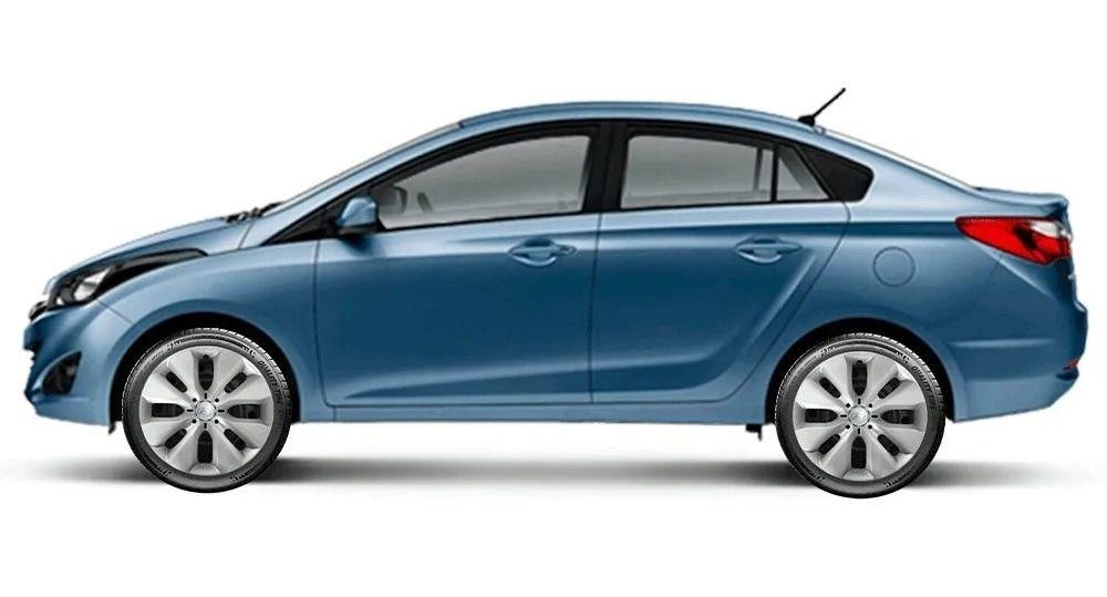 Calota Jogo 4Pçs Hyundai Hb20 Hb20S 2014 A 2019 Aro 15 G130J