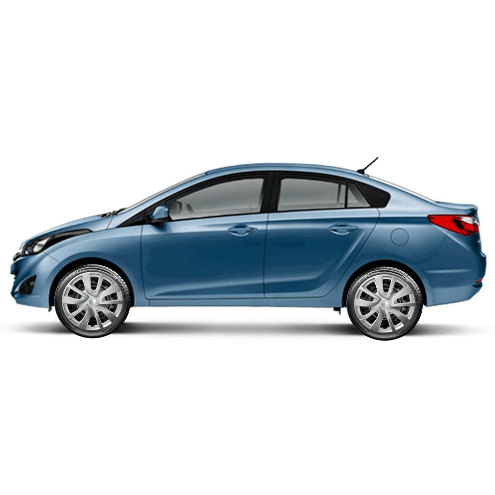 Calota Jogo 4Pçs Hyundai Hb20 Hb20S 2014 A 2019 Aro 15 G869J