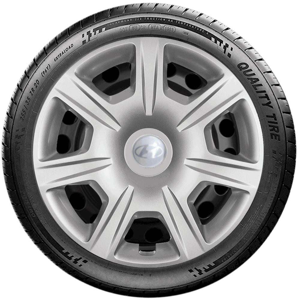 Calota Jogo 4Pçs Hyundai Hb20 Hb20S 2014 A 2019 Aro 15 G876J