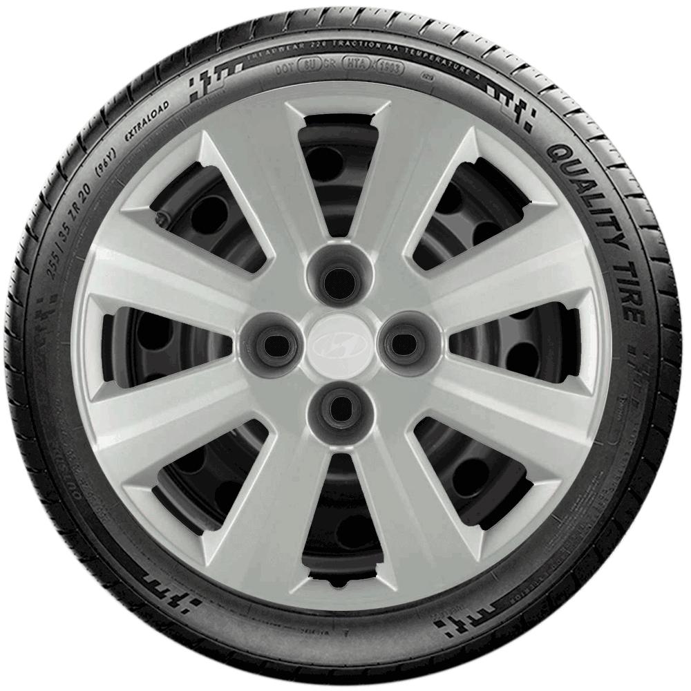 Calota Jogo 4Pçs Hyundai Hb20 Hb20S Aro 14 G109J