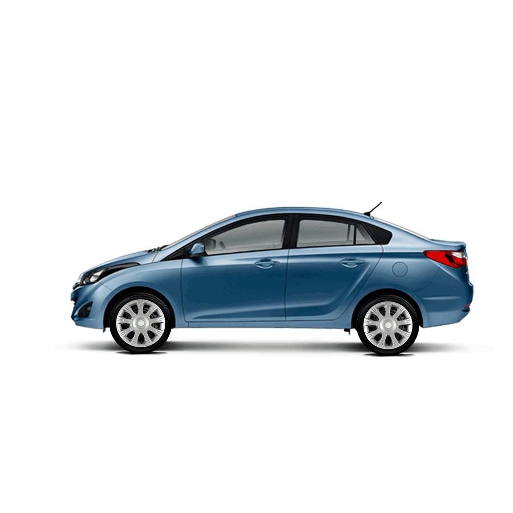 Calota Jogo 4Pçs Hyundai Hb20 Hb20S Hb20X 2014 A 2019 Aro 14 G086J