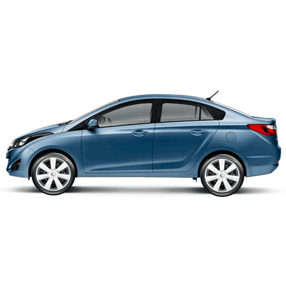 Calota Jogo 4Pçs Hyundai Hb20 Hb20S Hb20X 2014 A 2019 Aro 14 G450J