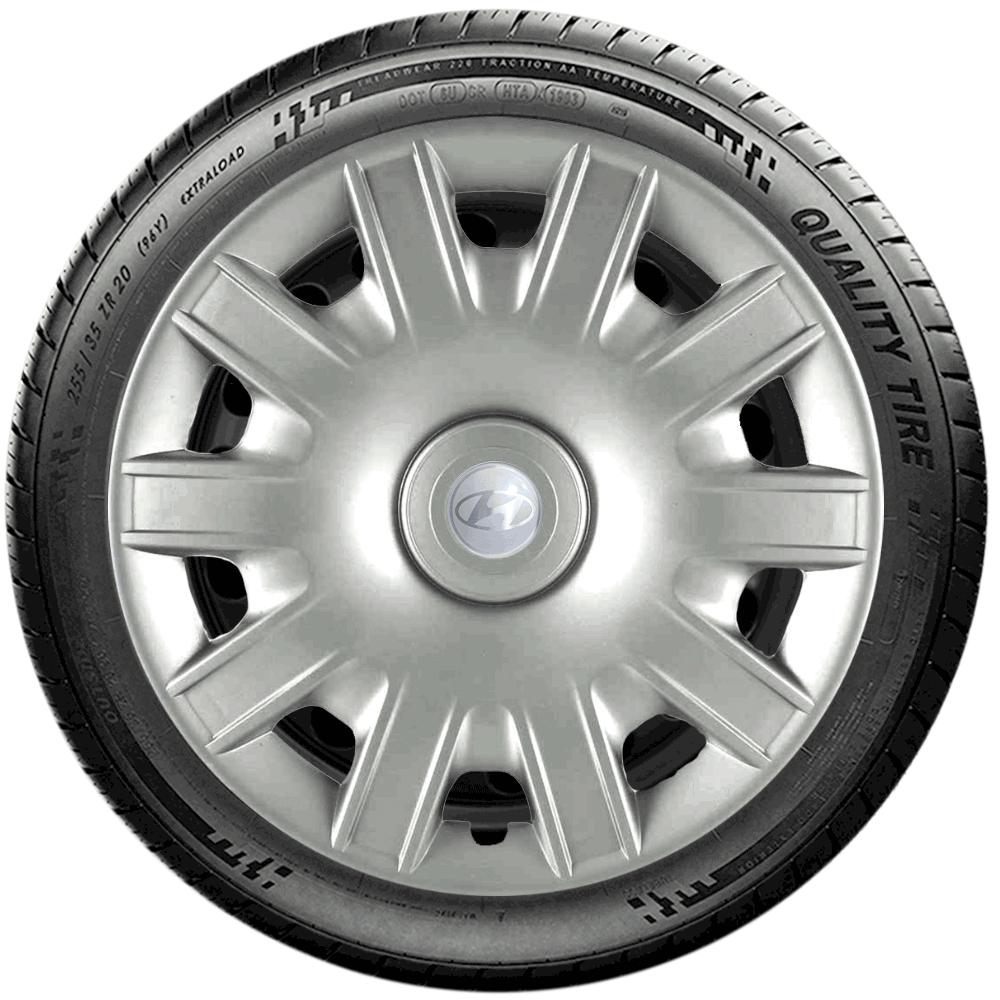 Calota Jogo 4Pçs Hyundai Hb20 Hb20S Hb20X Aro 15 G063J