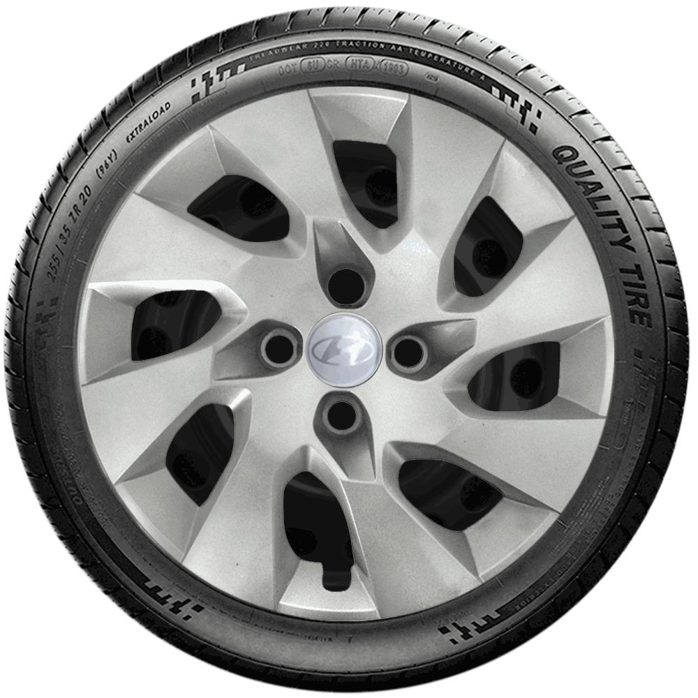 Calota Jogo 4Pçs Hyundai Hb20 Hb20X Hb20S Aro 15 G195J