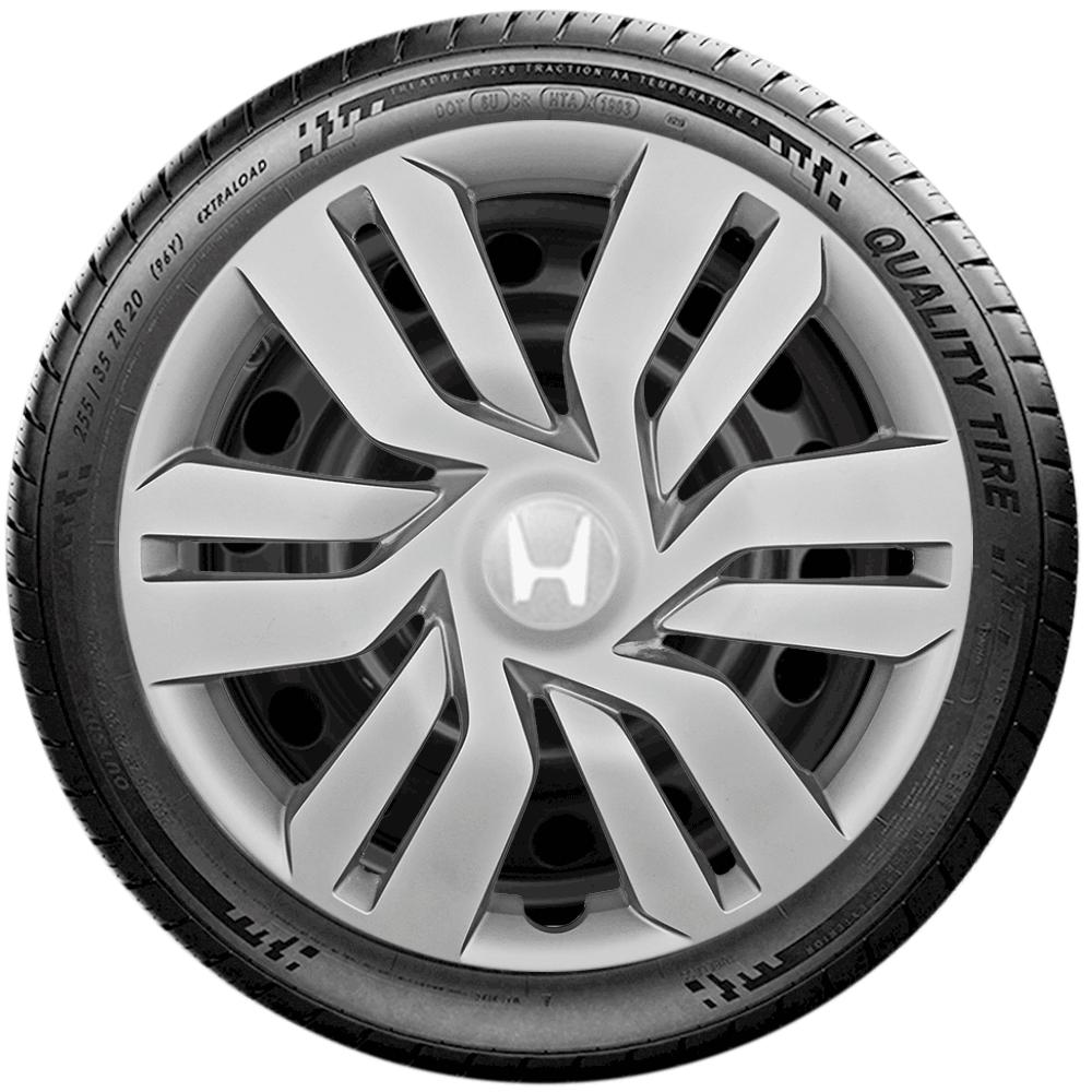Calota Jogo 4Pçs Honda New Civic New Fit City Aro 15 G120J