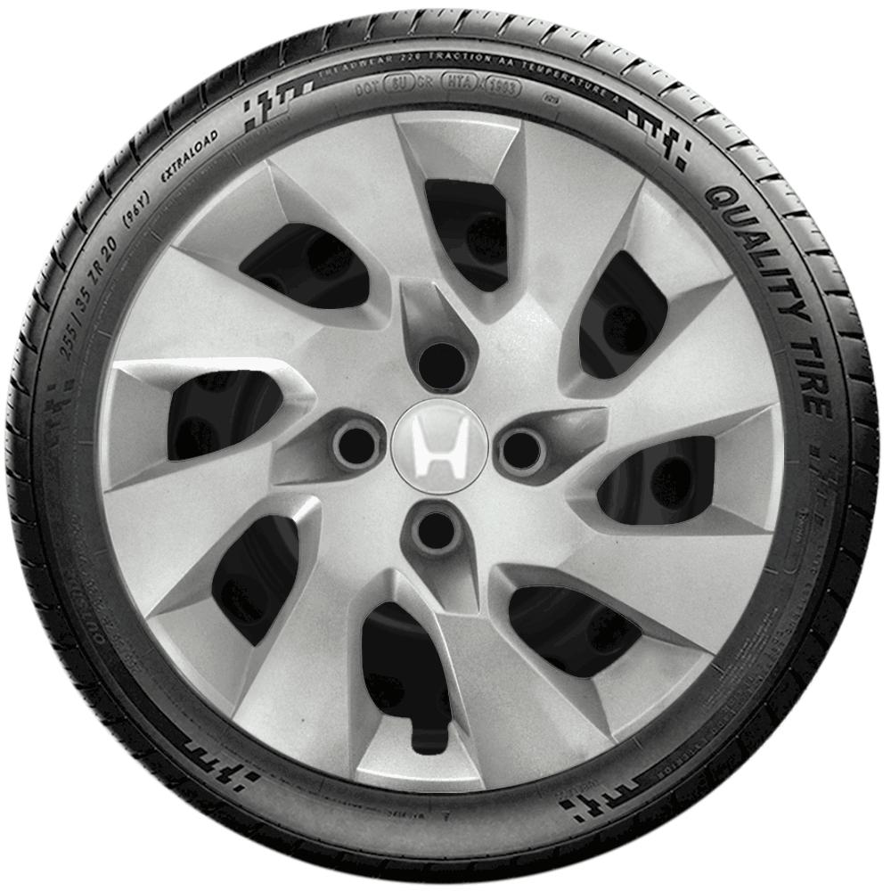 Calota Jogo 4Pçs Honda New Civic New Fit City Aro 15 G195J
