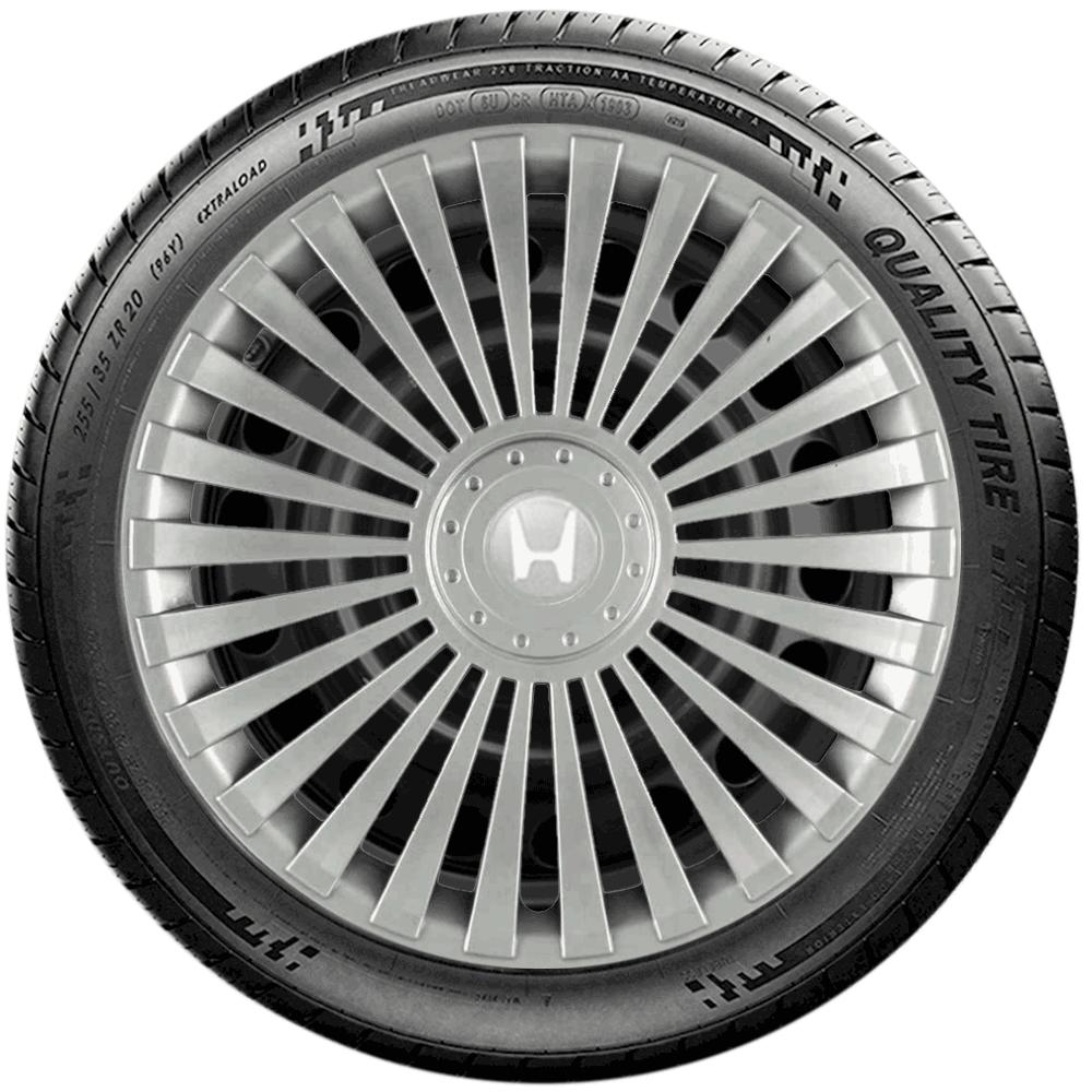 Calota Jogo 4Pçs Honda New Fit New Civic City Aro 14 G068J