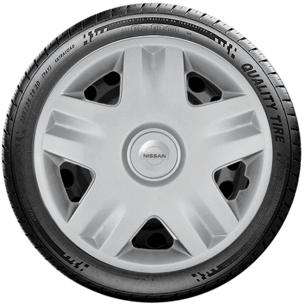 Calota Jogo 4Pçs Nissan March 2013 2014 2015 2016 Aro 14 G871J