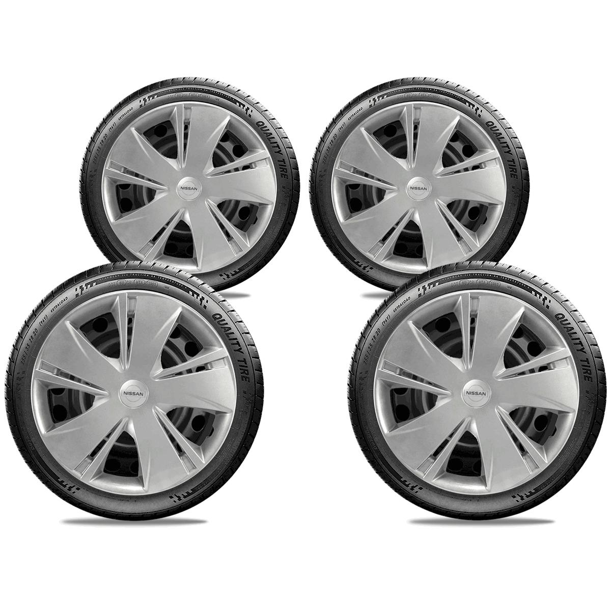 Calota Jogo 4Pçs Nissan March Versa 2012 A 2019 Aro 14 G451J
