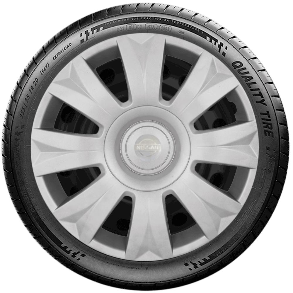 Calota Jogo 4Pçs Nissan March Versa Aro 15 G169J