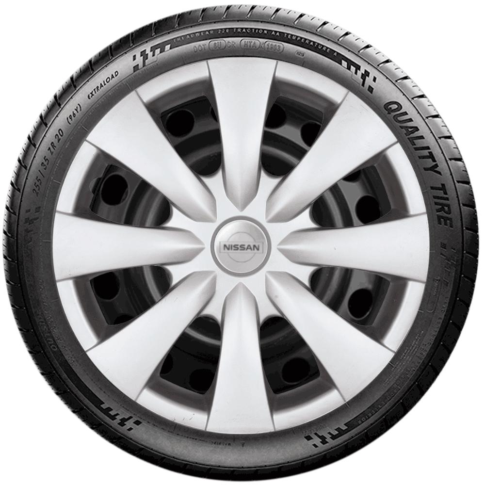 Calota Jogo 4Pçs Nissan March Versa Aro 15 G460J