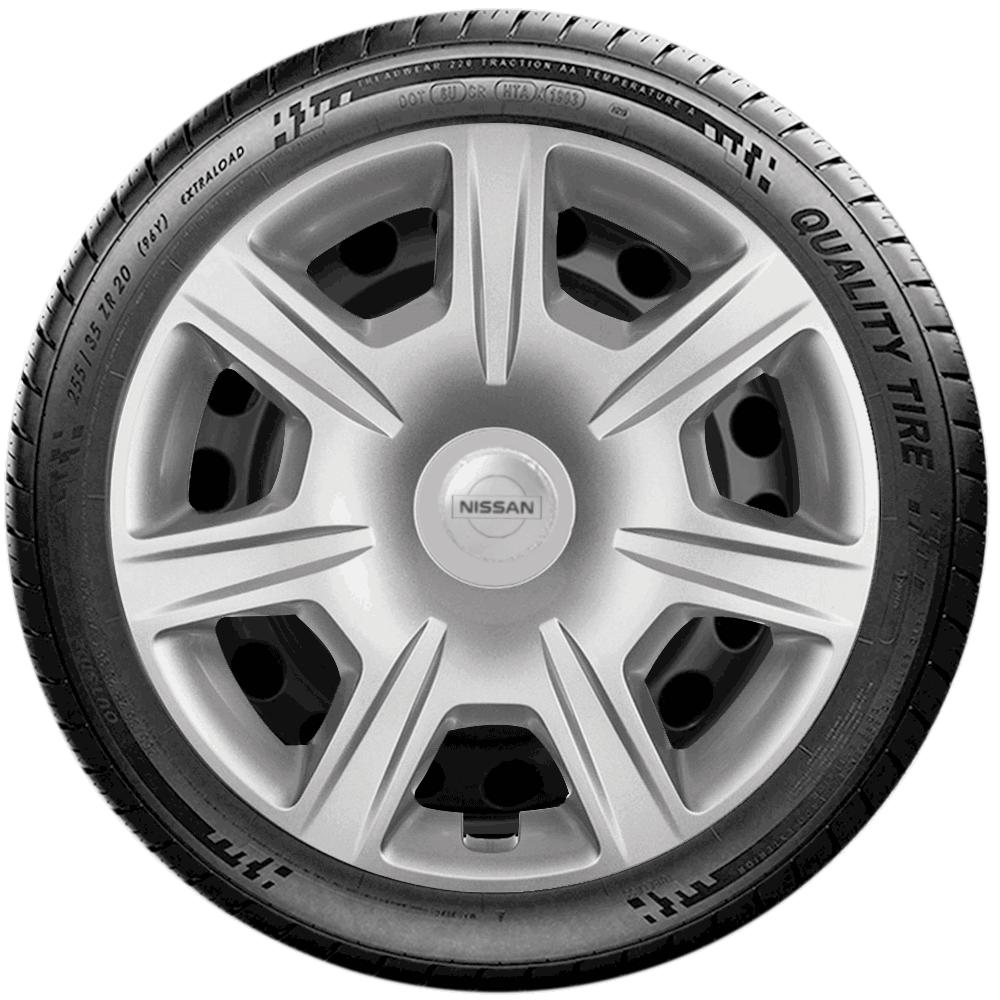 Calota Jogo 4Pçs Nissan Versa March Aro 15 G876J