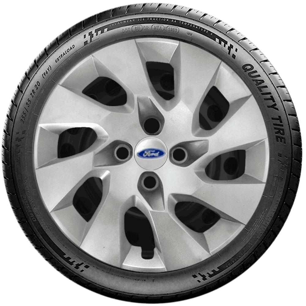Calota Jogo 4Pçs Ford Novo Focus Ká Fiesta Aro 15 G195J