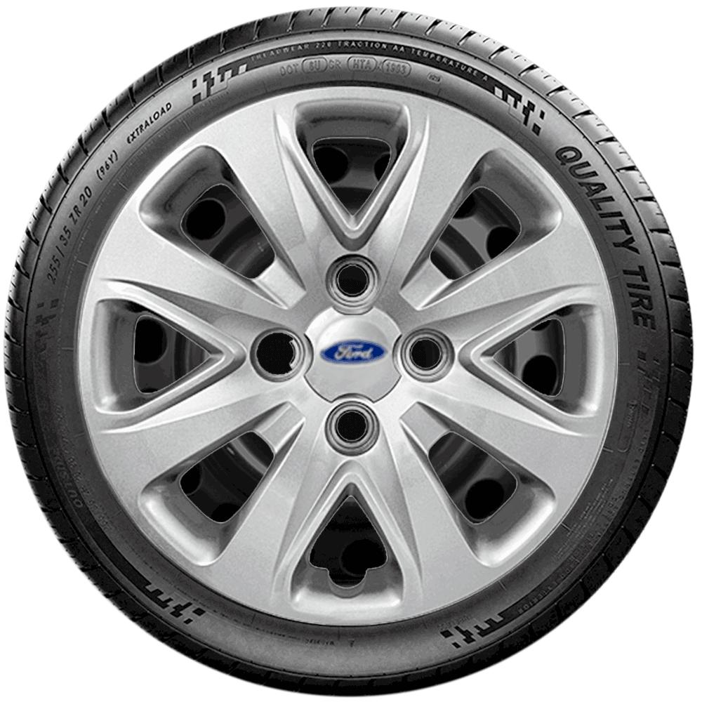 Calota Jogo 4Pçs Ford Novo Ka 2016 20147 2018 2019 Aro 14 G340J