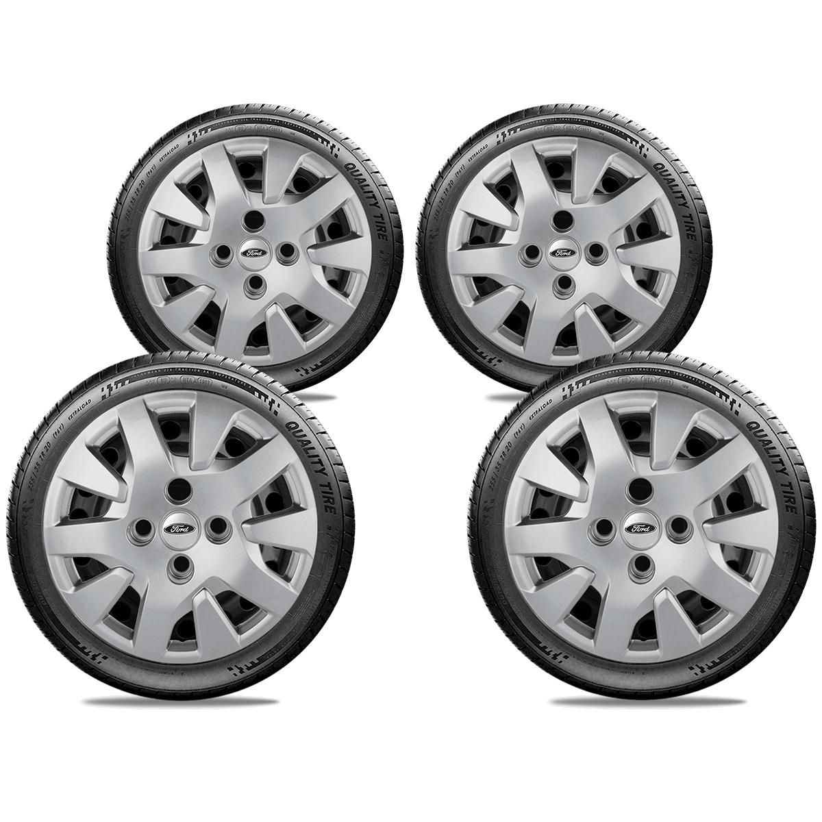 Calota Jogo 4Pçs Ford Novo Ka 2016 20147 2018 2019 Aro 14 G343J