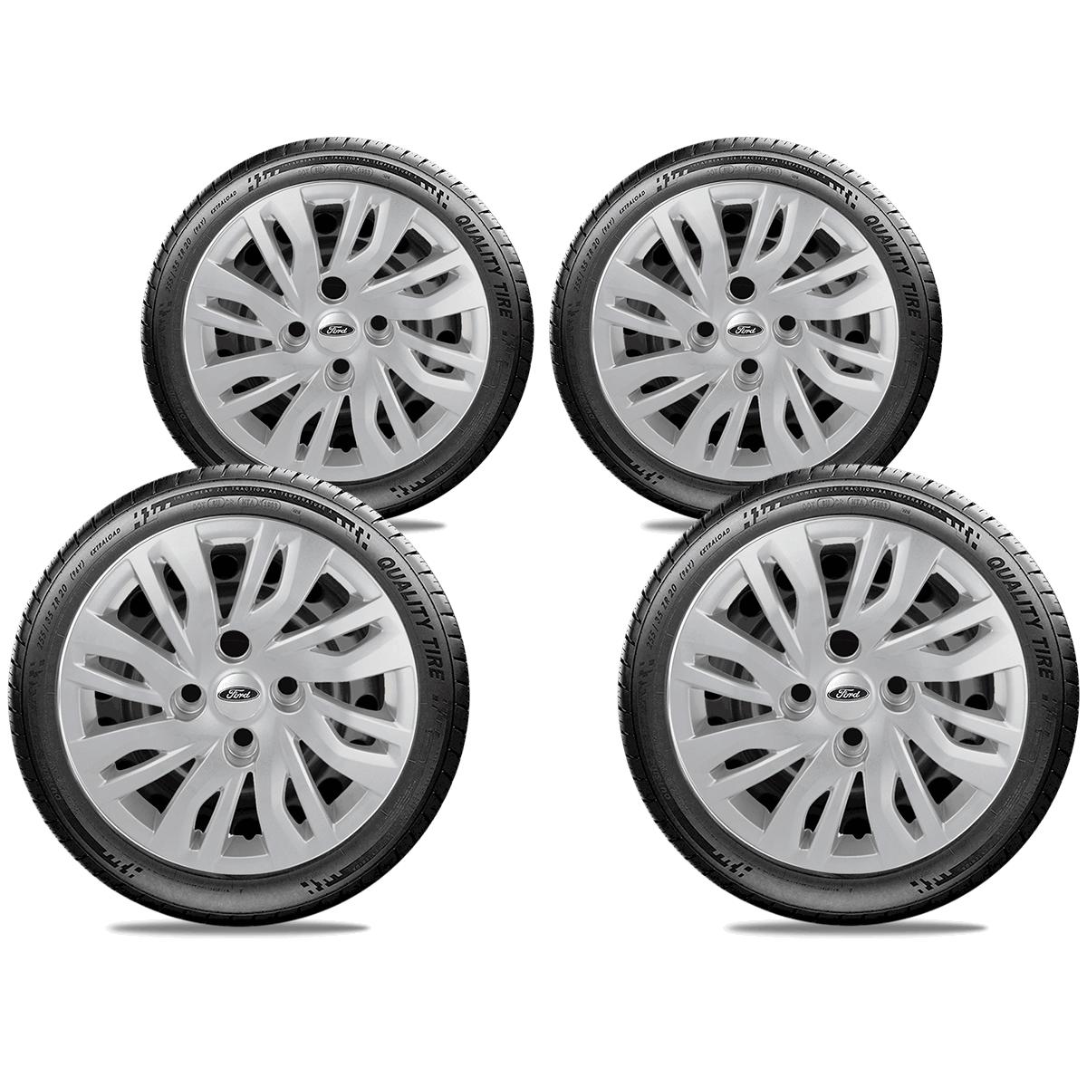 Calota Jogo 4Pçs Ford Novo Ka Fiesta 20147 2018 2019 Aro 14 G344J