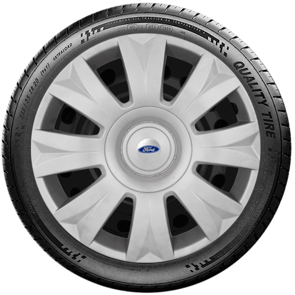 Calota Jogo 4Pçs Ford Novo Ká Fiesta Focus Aro 15 G169J