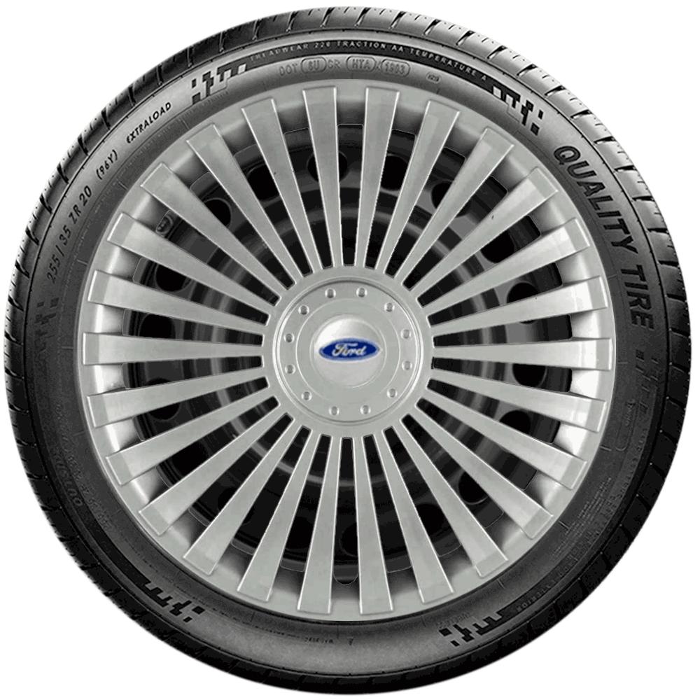Calota Jogo 4Pçs Ford Novo Ká Fiesta Focus Aro 15 G171J