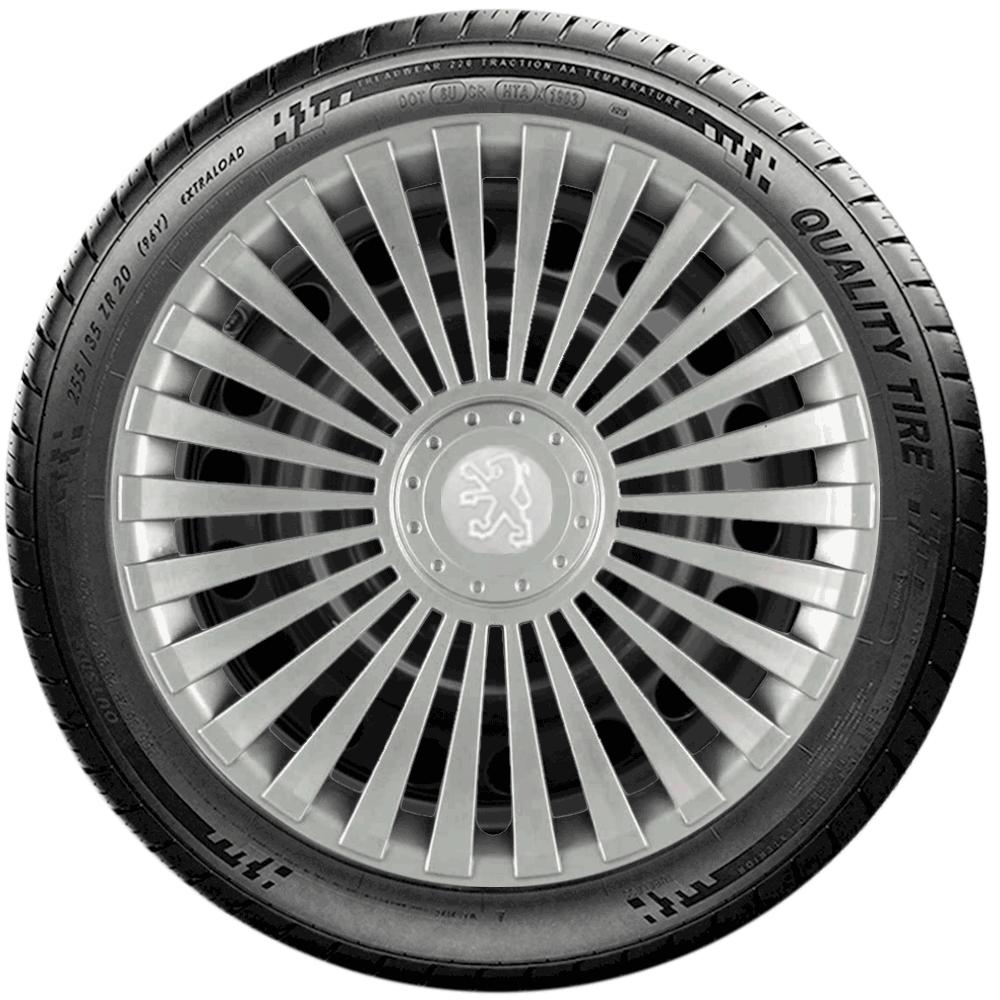 Calota Jogo 4Pçs Peugeot 206 207 208 307 Aro 14 G068J