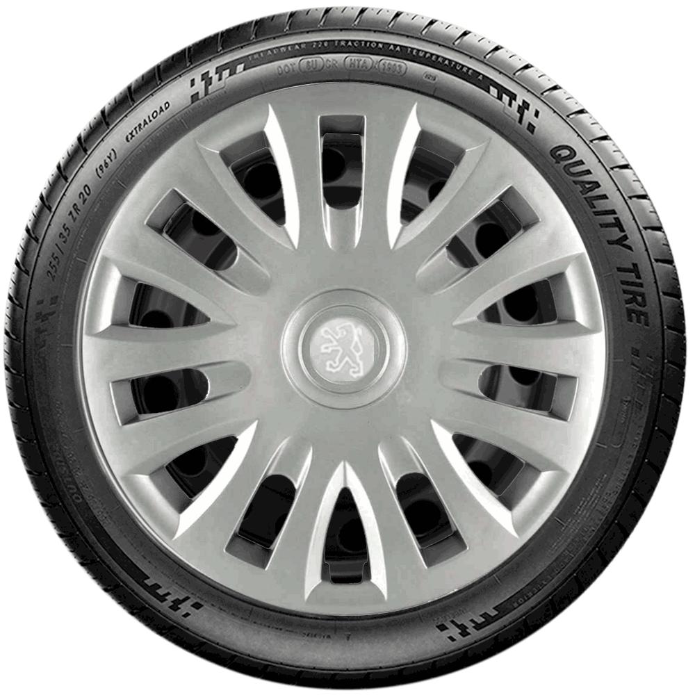 Calota Jogo 4Pçs Peugeot 206 207 208 307 Aro 14 G083J