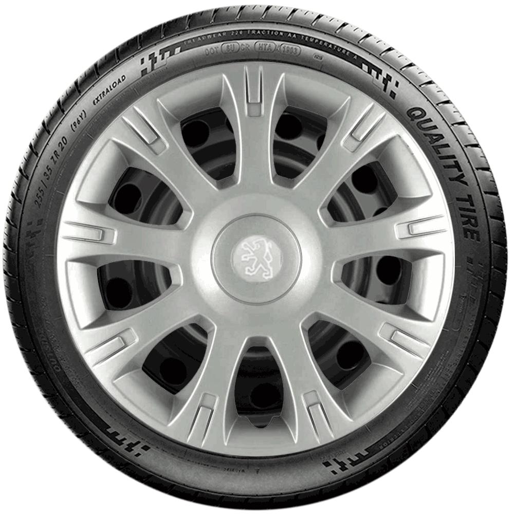 Calota Jogo 4Pçs Peugeot 206 207 208 307 Aro 14 G086J