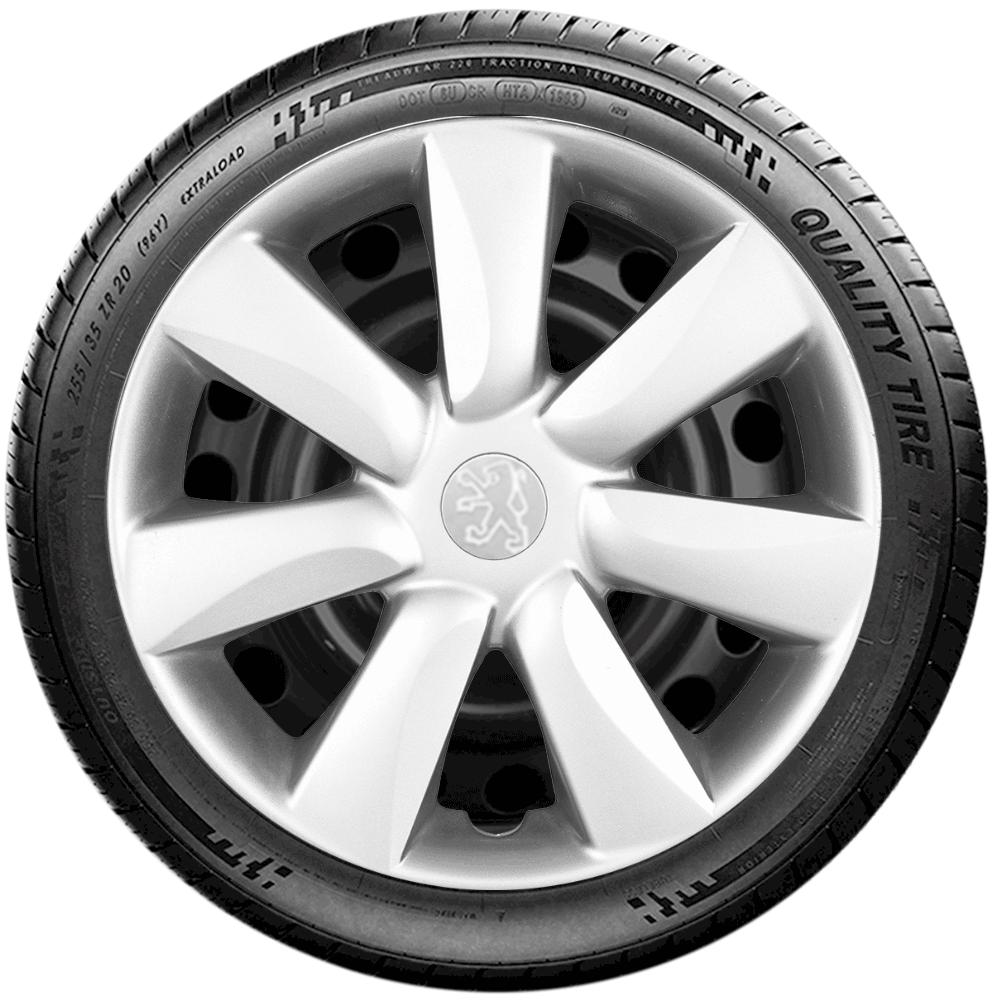 Calota Jogo 4Pçs Peugeot 206 207 208 307 Aro 14 G450J